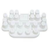 Showcase Collection Display Set 24-Ring Fuax Leather White