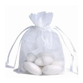 100 Organza Jewelry Bag Gift Pouch White 6x8""