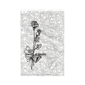 """Paper Jewelry Gift Bag 8.5 x 11"""" Silver Rose (100)"""