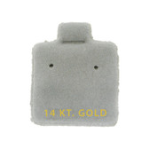 "100 Puff Earring Pads 1 x 1"" Grey 14KT GOLD"