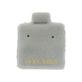 "100 Puff Earring Pads 1 x 1"" Grey 10KT GOLD"