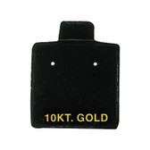 "100 Puff Earring Pads 1 x 1"" Black 10KT GOLD"