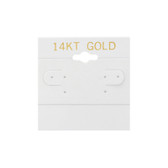 "100 Plastic Earring Hanging Card 2""x2"" White 14KT GOLD"