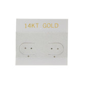 """100 Plastic Earring Hanging Card 1.5""""x1.5"""" Grey 14KT GOLD"""