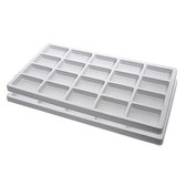 Flocked Tray Liner 20-Compartment Insert White