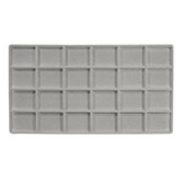 Flocked Tray Liner 24-Compartment Insert Grey
