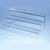 "Acrylic Step Riser Stair Display 18""x9""x9"" Clear"