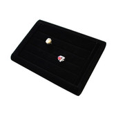 Ring Display Tray 4 Slot Black Velvet