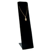 Pendant Necklace Chain Display Adjustable Stand Black Velvet