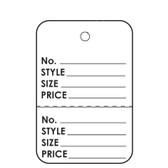 "1000 Paper Price Label Tag 1 7/8"" Unstrung-Printed"