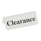 "Acrylic Frosted Sign ""Clearance"""