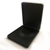 Large Round Corner Leather Necklace Box Black