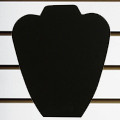 "Slatwall Neckform Board Necklace Display Black Velvet 9""H"