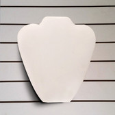 "Slatwall Neckform Board Necklace Display White Leather 9""H"