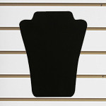 "Slatwall Neckform Board Necklace Display Black Velvet 8""H"