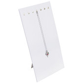 Necklace Chain Pad Insert Easel Backing White Leather