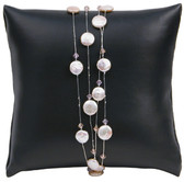 Watch Bracelet Pillow Display Leather Black