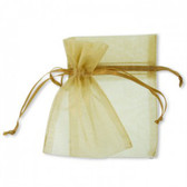 100 Organza Jewelry Bag Gift Pouch Gold 4X6""