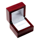 Rosewood Leather Ring Jewelry Gift Box
