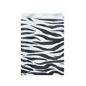 "Paper Jewelry Gift Bag 8.5 x 11"" Zebra (100)"