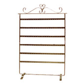 Large Earring Piercing Body Jewelry Display Rack Copper Tone