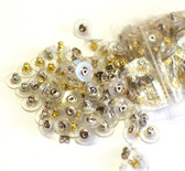 50 Earring Back Stoppers Ear Nuts Gold