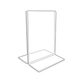 Acrylic Sign Display Holder Upright 3.5x5.5""