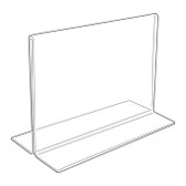 Acrylic Sign Display Holder Horizontal 7x5.5""