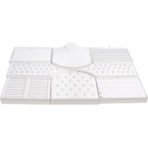 Display Set 8-Piece Faux Leather White