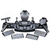 Display Set 21-Piece Faux Leather Steel Grey
