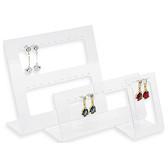 3-Pc Acrylic Earrings Ear Stud Display Set (17 Pairs)