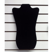 "Slatwall Neckform Board Necklace Display Black Velvet 14""H"