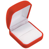 12 Flocked Velour Ring Jewelry Gift Box Red