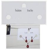 100 Combination Jewelry Card Plastic White
