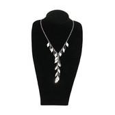 """Slim Neckform Necklace Display 12""""H Velvet Black M"""