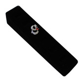 Ring Display Ramp 6 Slot Vertical Stand Black Velvet