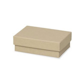 "100 Earring Pin Boxes 2"" x 1 1/2"" x 3/4"" Kraft"
