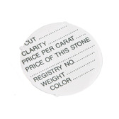 500 Adhesive Round Label for Gem Jars