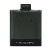 "100 Puff Earring Pads 1 1/2"" x 1 3/4"" Vinyl Black STERLING SILVER"