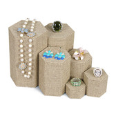 Large 6-Pc Nested Riser Stackable Set Burlap