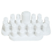 Display Set 23-Ring Clip Faux Leather White