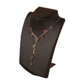 Retractable Neckform Necklace Display Black Leather