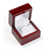 Rosewood Leather Earring Jewelry Gift Box