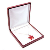 Rosewood Leather Necklace Jewelry Gift Box