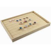 Burlap Jewelry  Display Tray For Ring