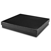 "100 Jewelry Boxes 7 1/8"" x 5 1/8"" x 1""H Black Linen"