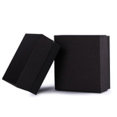 "100 Jewelry Gift Box 3 5/8x 3 5/8"" x 2"" Black Linen"