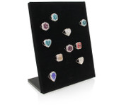 Upright 50 Ring Display Panel Black Velvet