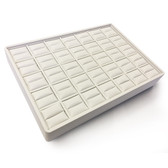 Stackable Showcase Tray Ring 35-Slot White