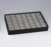 Stackable Showcase Tray Ring 35-Slot Steel Grey